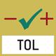 Pesage avec zone de tolérance : les valeurs limites supérieures et inférieures sont programmables, p. ex. pour triage et mis en portion